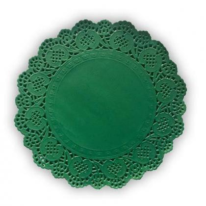 100 pack - 10 inch Emerald Green La..
