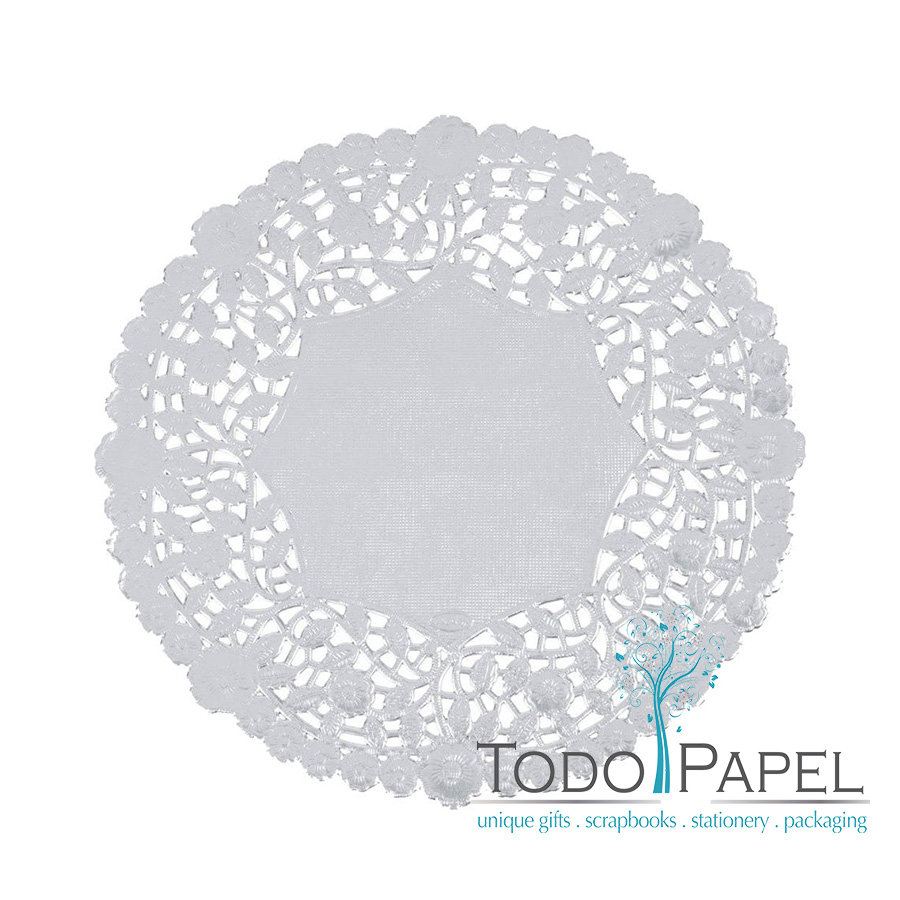 50ct - 12 inch SILVER Paper Lace Doilies. Perfect Silver Charger plate doilies for Wedding and Special Event Celebrations or Invitation Embellishments