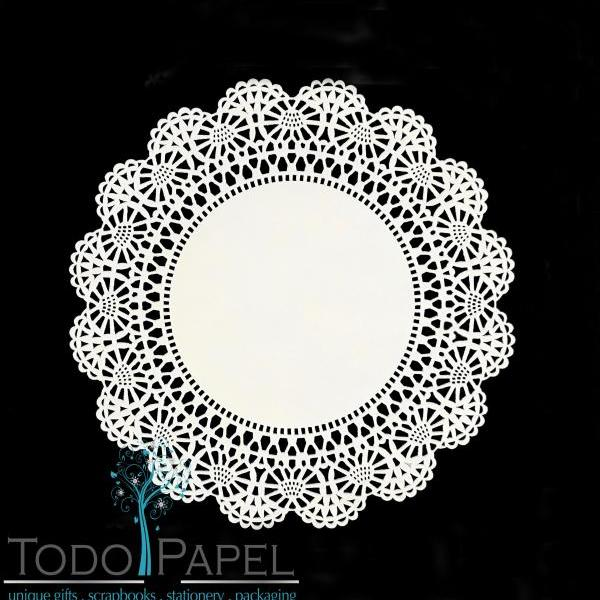 100 pack - 12 inch WHITE Cambridge Style Paper Lace Doilies | The Exquisite Design is perfect for Wedding Charger Plates, placemats, centerpieces and Table Event Decor