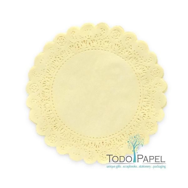 50 pack 12 inch Normandy Style Moonlight Yellow Paper Lace Doilies - Great as Table Décor Plate Chargers, Placemats, and Centerpieces for Wedding Receptions, Party Events & Birthday Celebrations.
